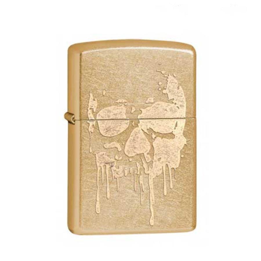 Bật Lửa Zippo Grunge Skull Gold Dust Chính Hãng Usa