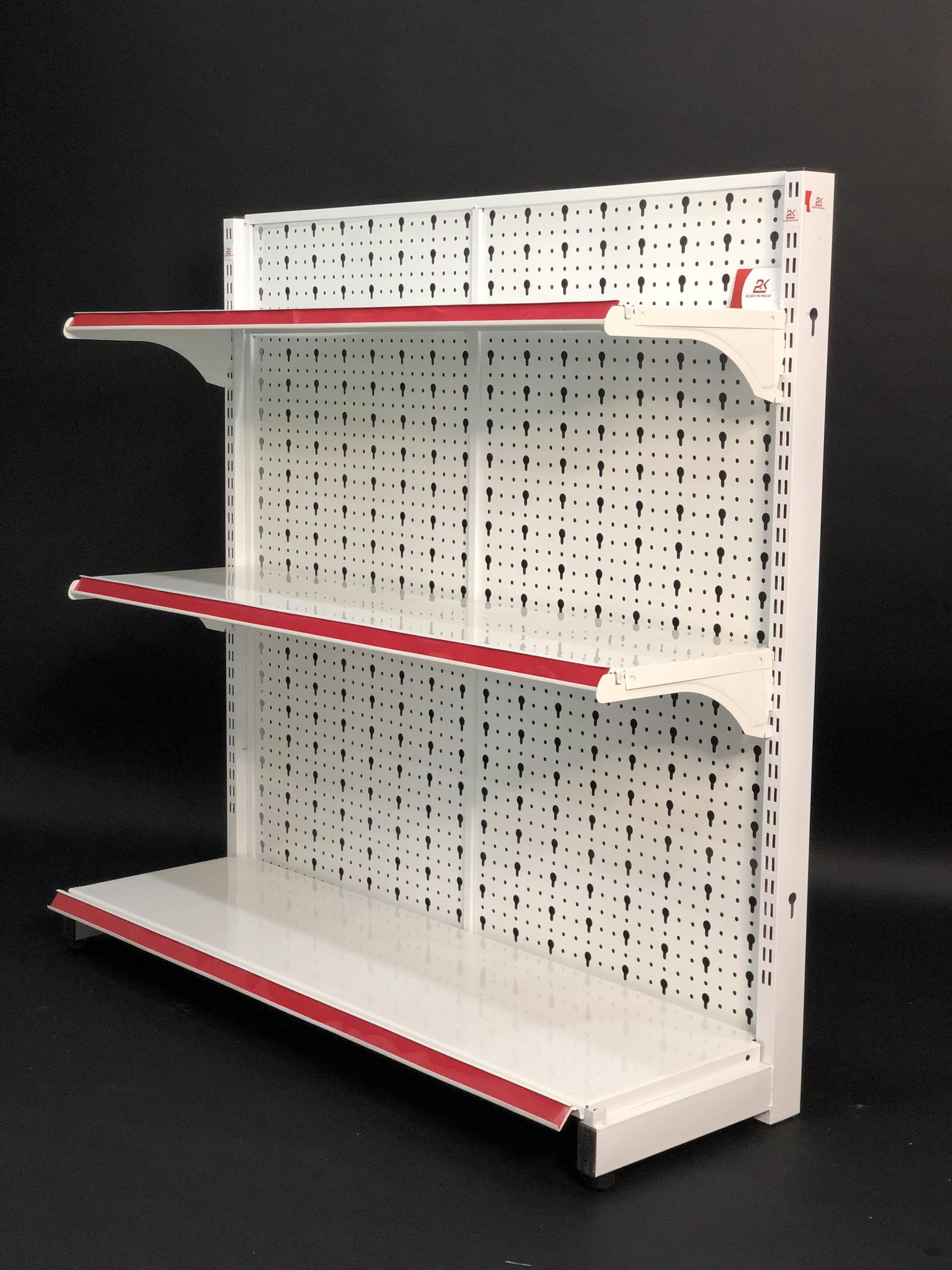 Kệ Tole Lỗ áp tường (1 mặt)-Dài 120 x Rộng 35 x Cao 120 x 3 tầng