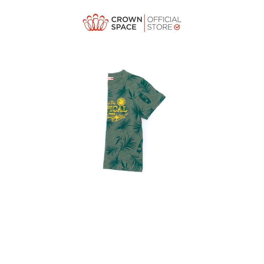 Áo Phông Tropical Cho Bé Trai Crown Kids Fashion CKBS2110803 TShirt Vải Cotton Thoáng Mát Từ Size 2-9