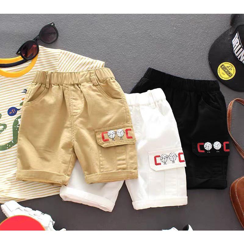 Quần Ngố Kaki Cho Bé Trai Bé Gái Đi Học Đi Chơi Size 8-25kg KidsOneStore QS1