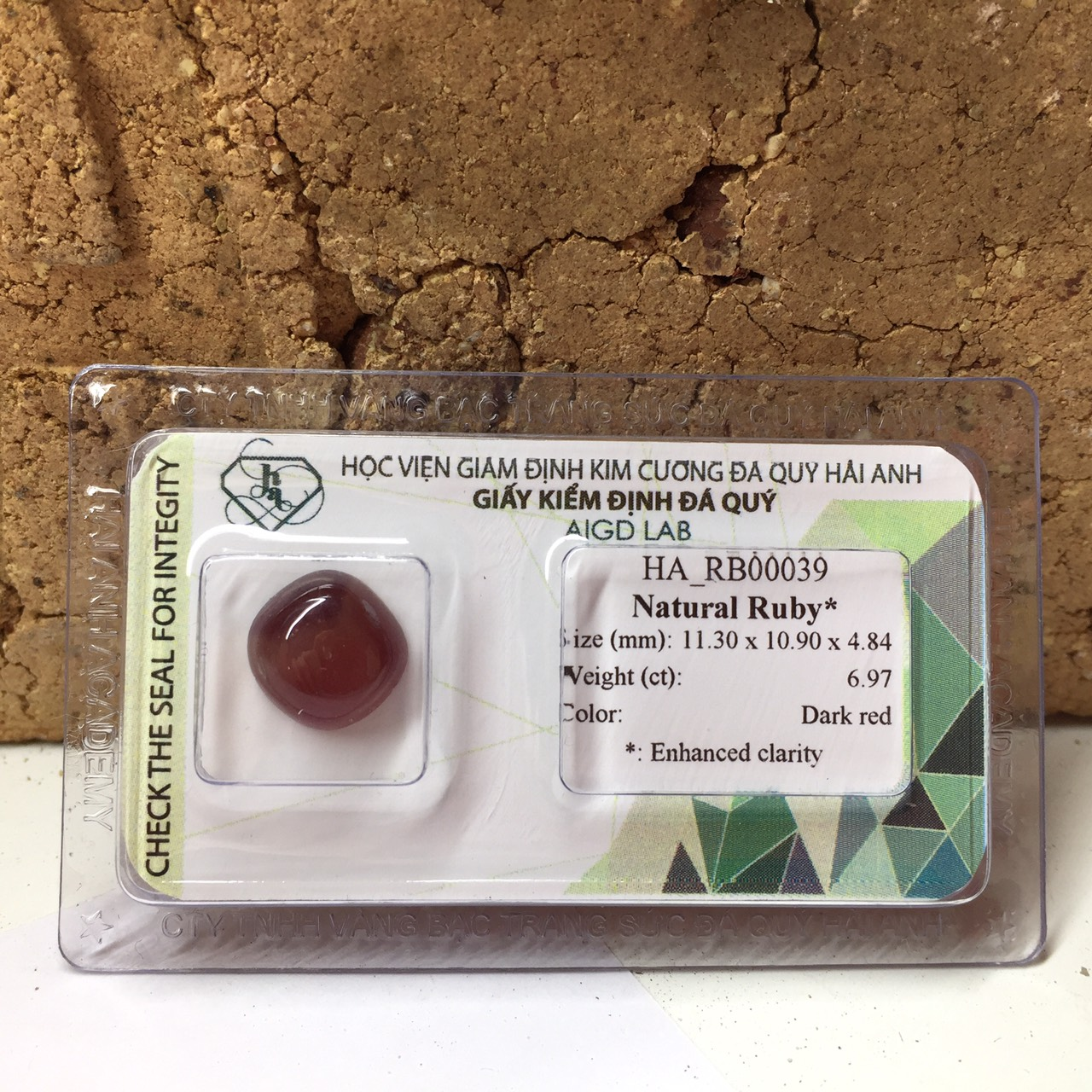 Viên đá Ruby thiên nhiên_HA-RB00039