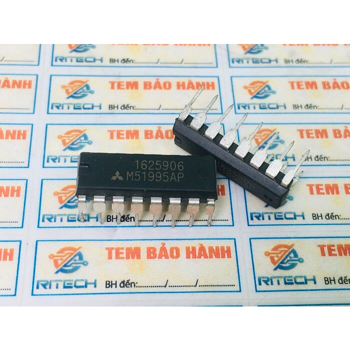 Combo 4 chiếc M51995AP, M 51995AP IC nguồn DIP-16