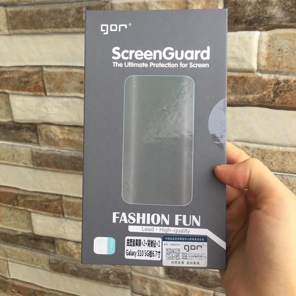 Bộ 3 miếng dán Samsung Galaxy S10 5G hiệu GOR - Hàng Nhập Khẩu