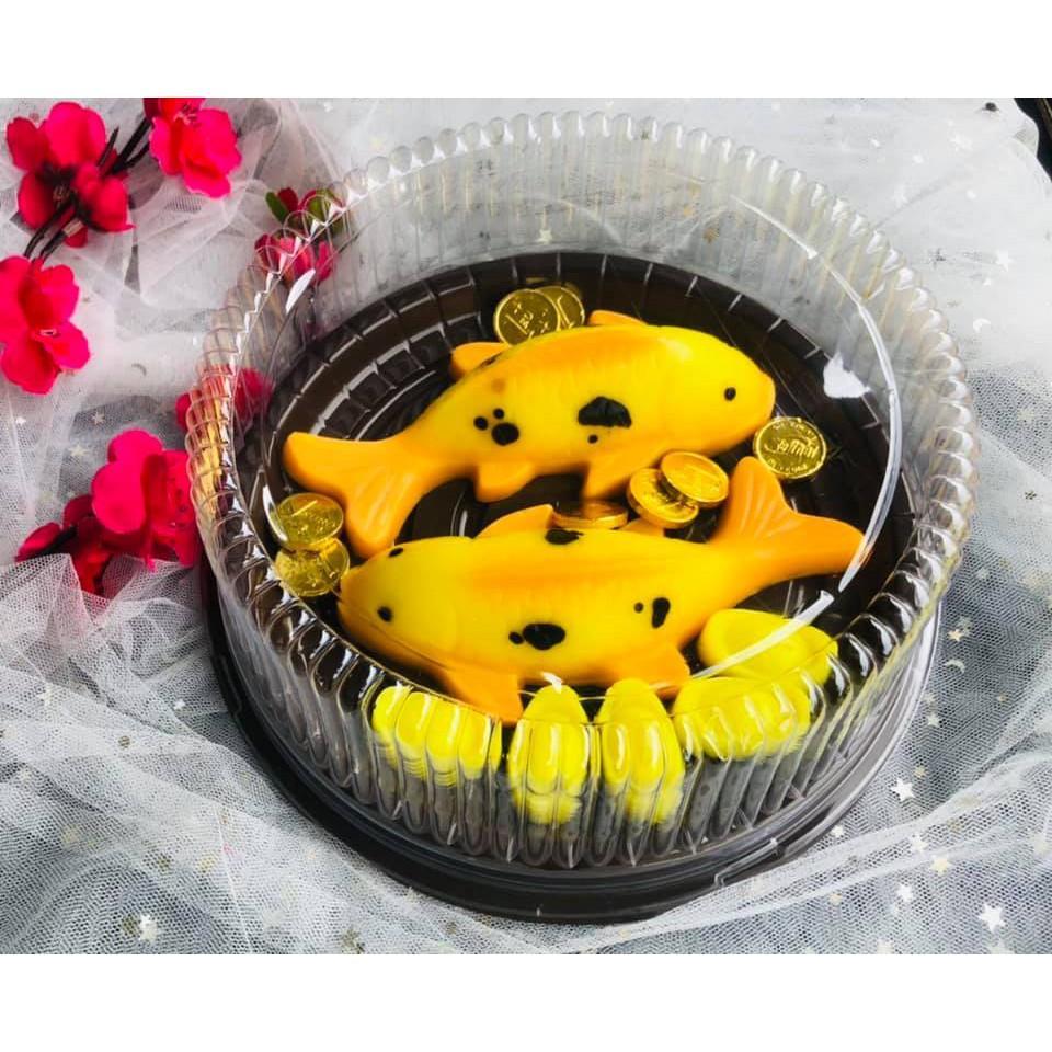 10 hộp nhựa đế đen đựng bánh size 18-20cm