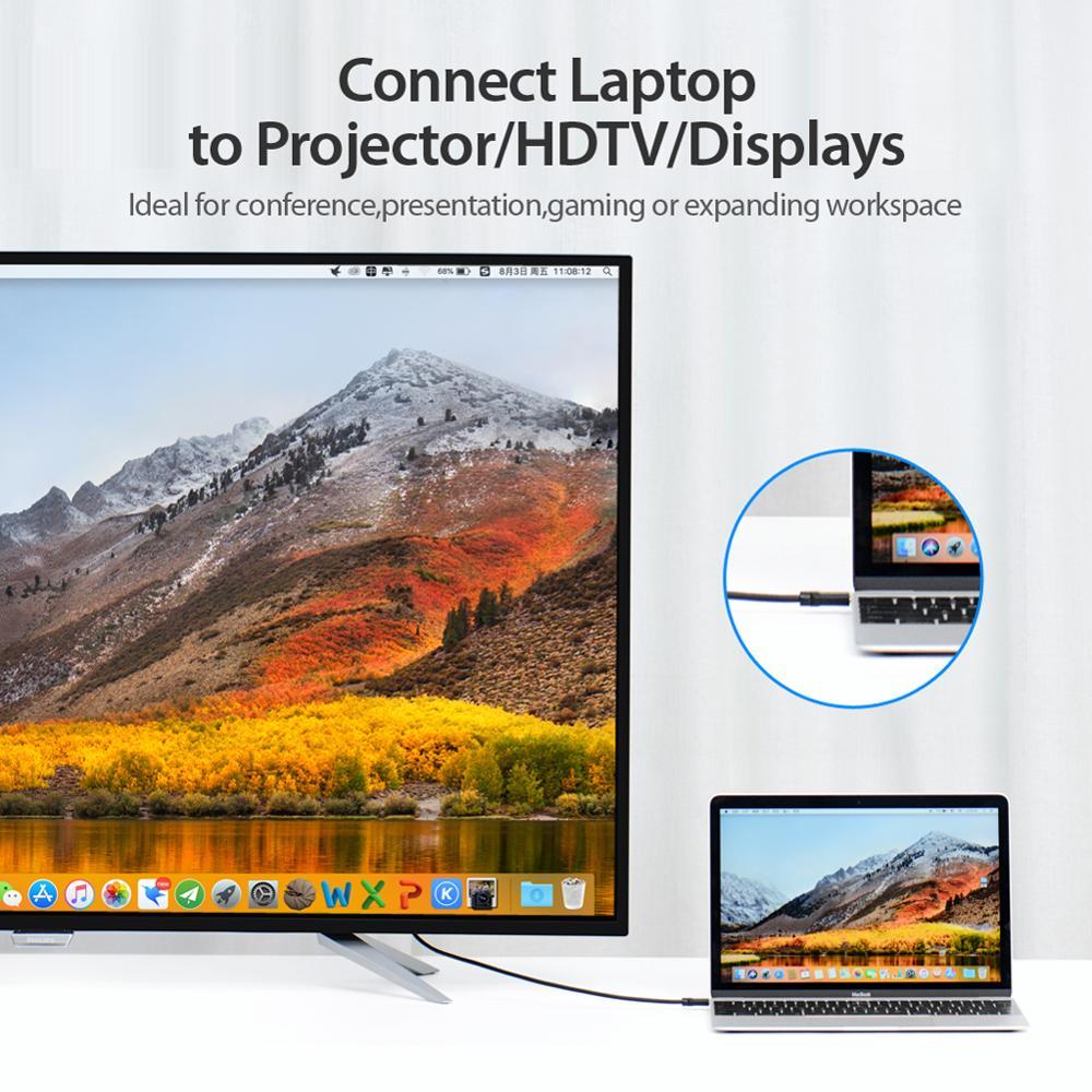 Cáp chuyển đổi Type-c sang HDMI 1.5M Vention CGUBG - Hàng Chính Hãng