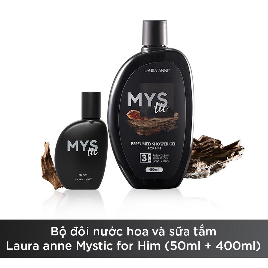 Bộ đôi nước hoa và sữa tắm Laura anne Mystic for Him