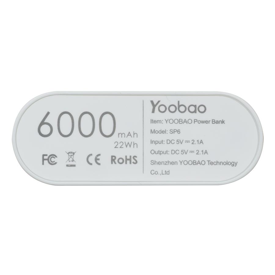 Pin Sạc Dự Phòng Yoobao YP-SP6 6000mAh - Hàng Chính Hãng