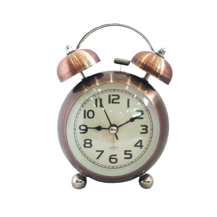 Đồng hồ để bàn HISTORY ALARM báo thức mạ đồng, thiết kế nhỏ gọn, chuông to