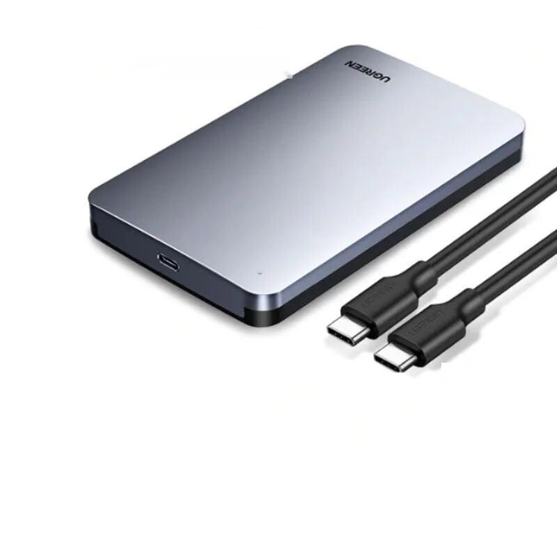 hộp đựng ổ cứng ssd 2.5-inch sata kèm cáp usb type c ra usb type c Ugreen 300HV70499CM  hàng chính hãng