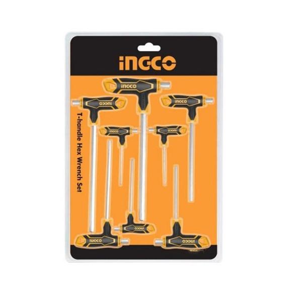 Bộ 8 chìa lục giác tay cầm chữ T Ingco HHKT8081