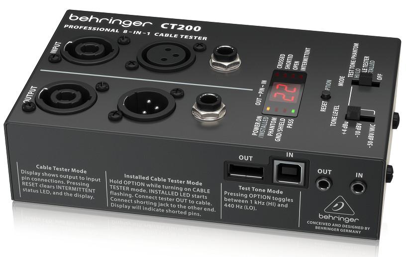 Thiết bị Kiểm tra cáp Cable Testers BEHRINGER CT200 - Hàng chính hãng