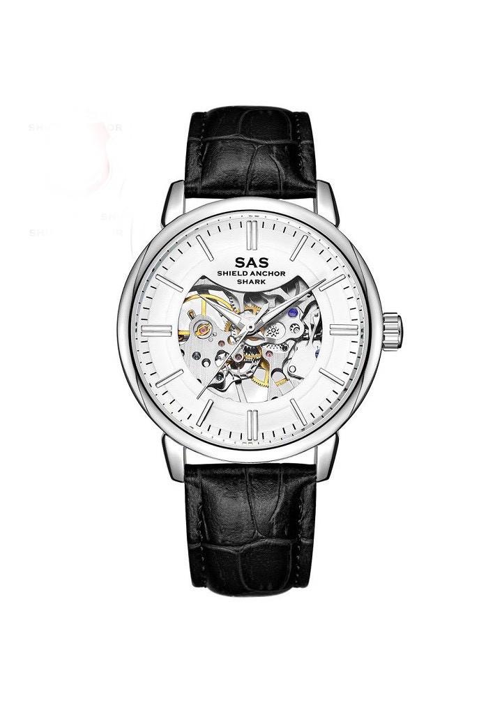Đồng hồ cơ SAS-123 dây da thời trang