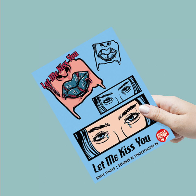 Let me kiss you - Single Sticker hình dán lẻ