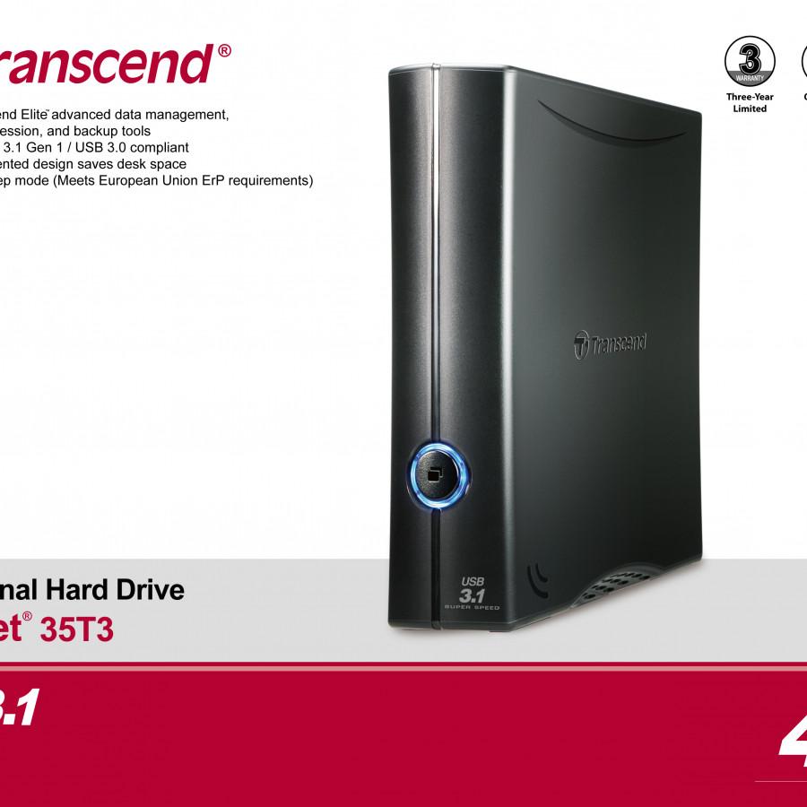 Ổ Cứng Di Động Transcend 4TB STOREJET3.5 T3  - Hàng Chính Hãng