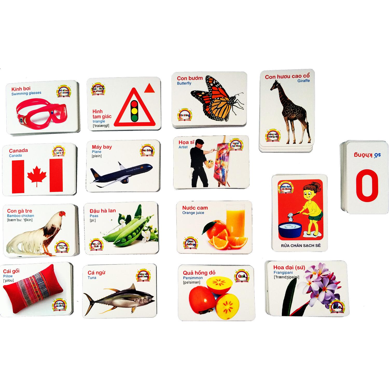 Bộ 416 Thẻ Học Tiếng Anh Thông Minh Flashcard Cho Bé - 16 chủ đề