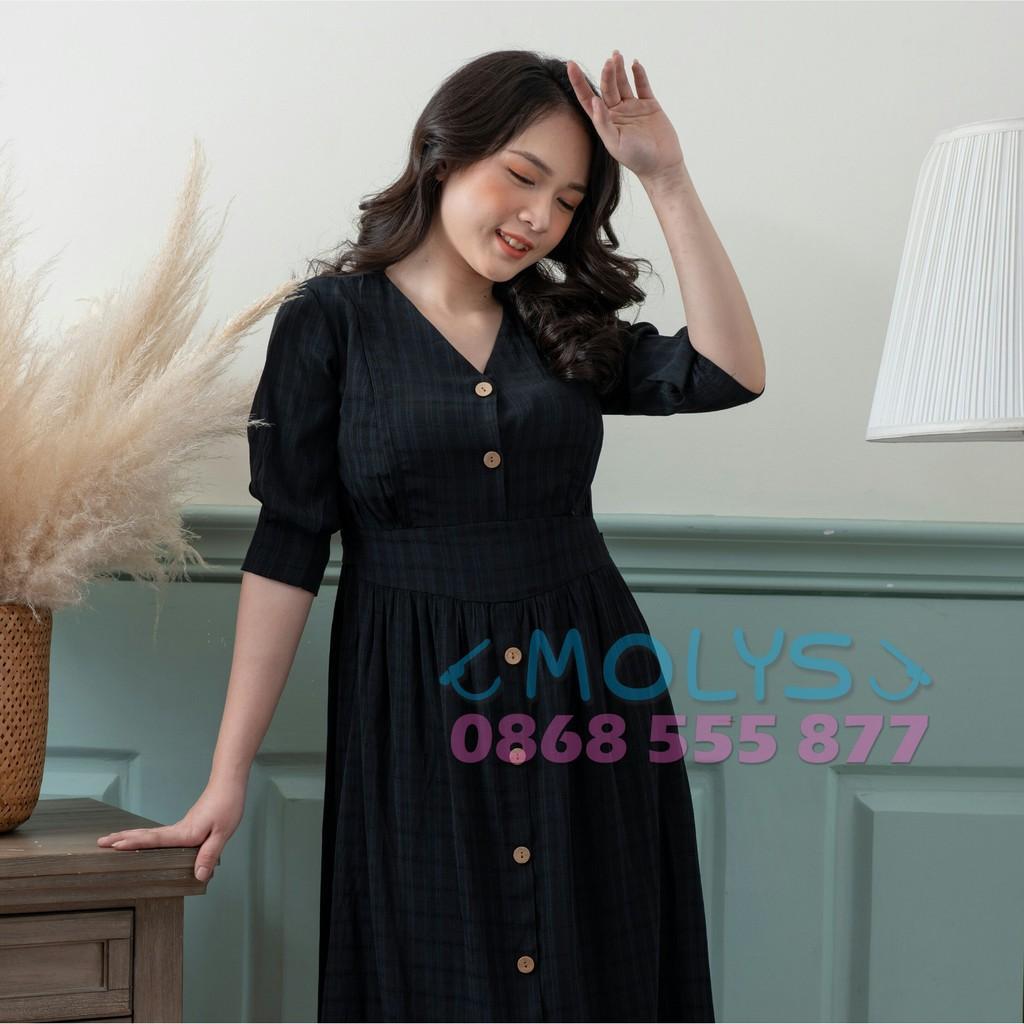 Đầm bầu  Váy bầu kết hợp cho con bú sau sinh MOLYS M2321 đai tam giác mềm mịn,CAM KẾT 7 NGÀY ĐỔI TRẢ