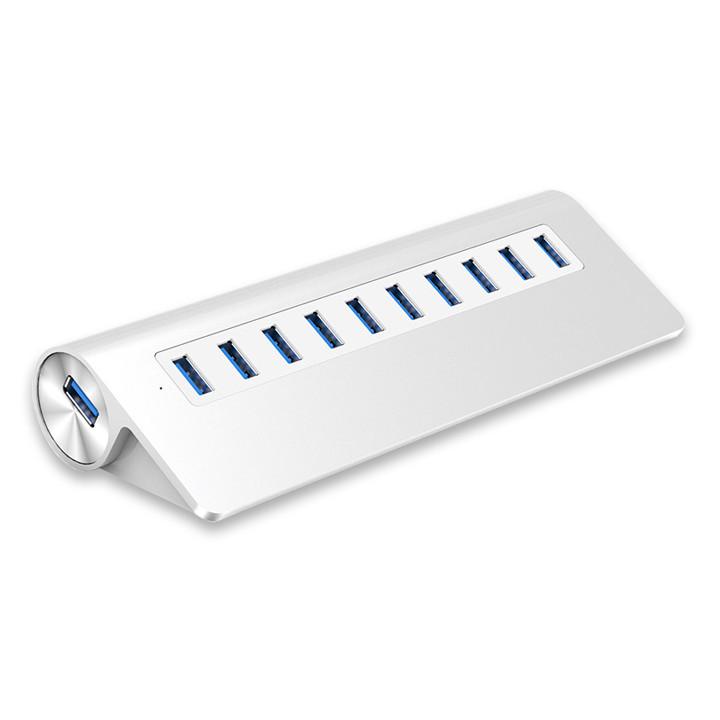 Bộ hub chia 10 cổng USB3.0 vỏ nhôm cao cấp M3H10