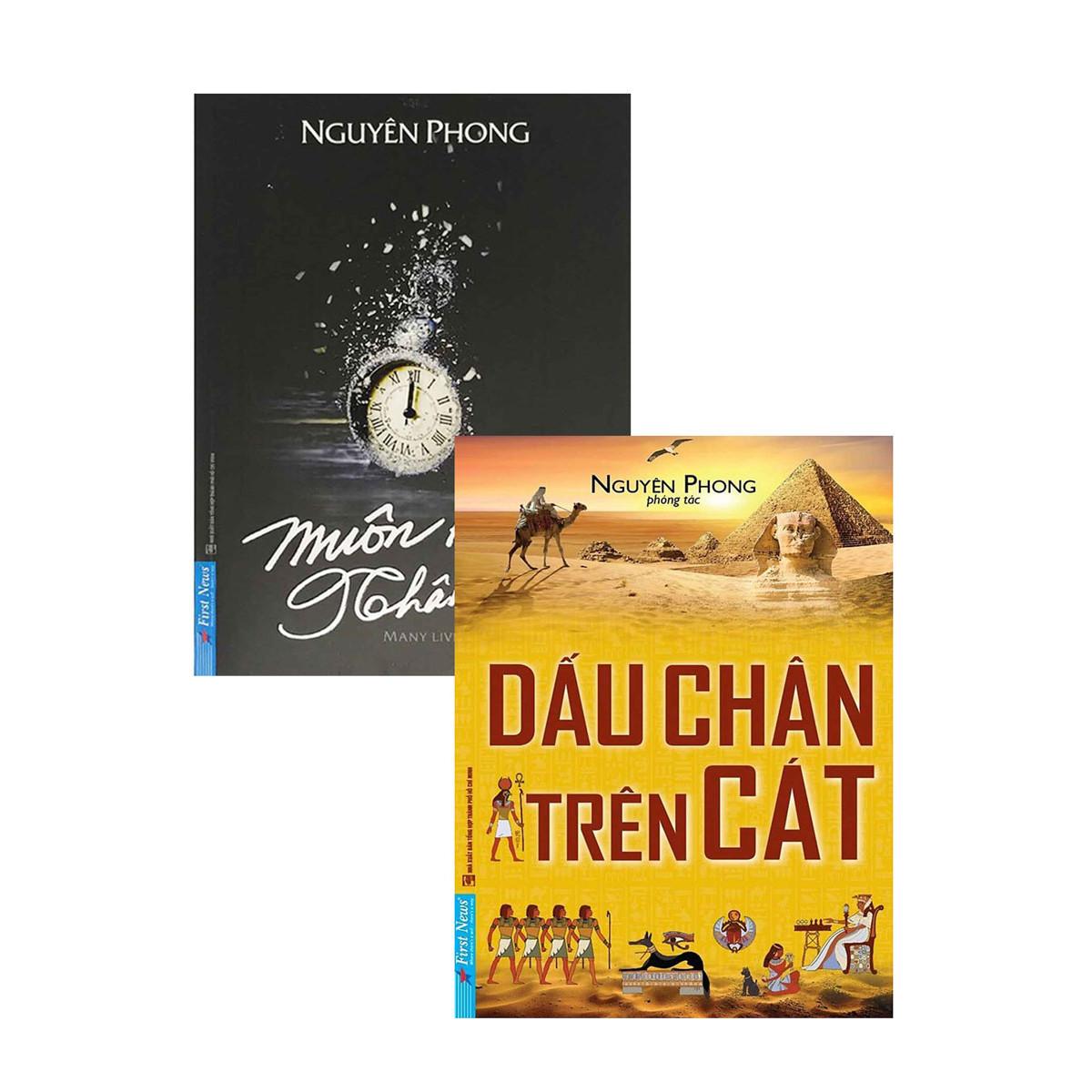 Combo 2 cuốn (Dấu chân trên cát + Muôn Kiếp Nhân Sinh)Bìa mềm  2020