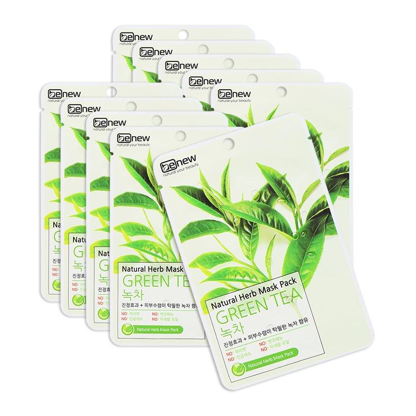 Mặt nạ ngăn ngừa mụn chiết xuất trà xanh benew hàn quốc (22ml / gói)