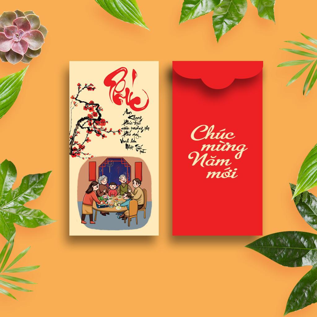 Bao Lì Xì - Bộ combo Phúc Lộc Thọ Toàn - Xuân An Khang - Tết Phát Lộc