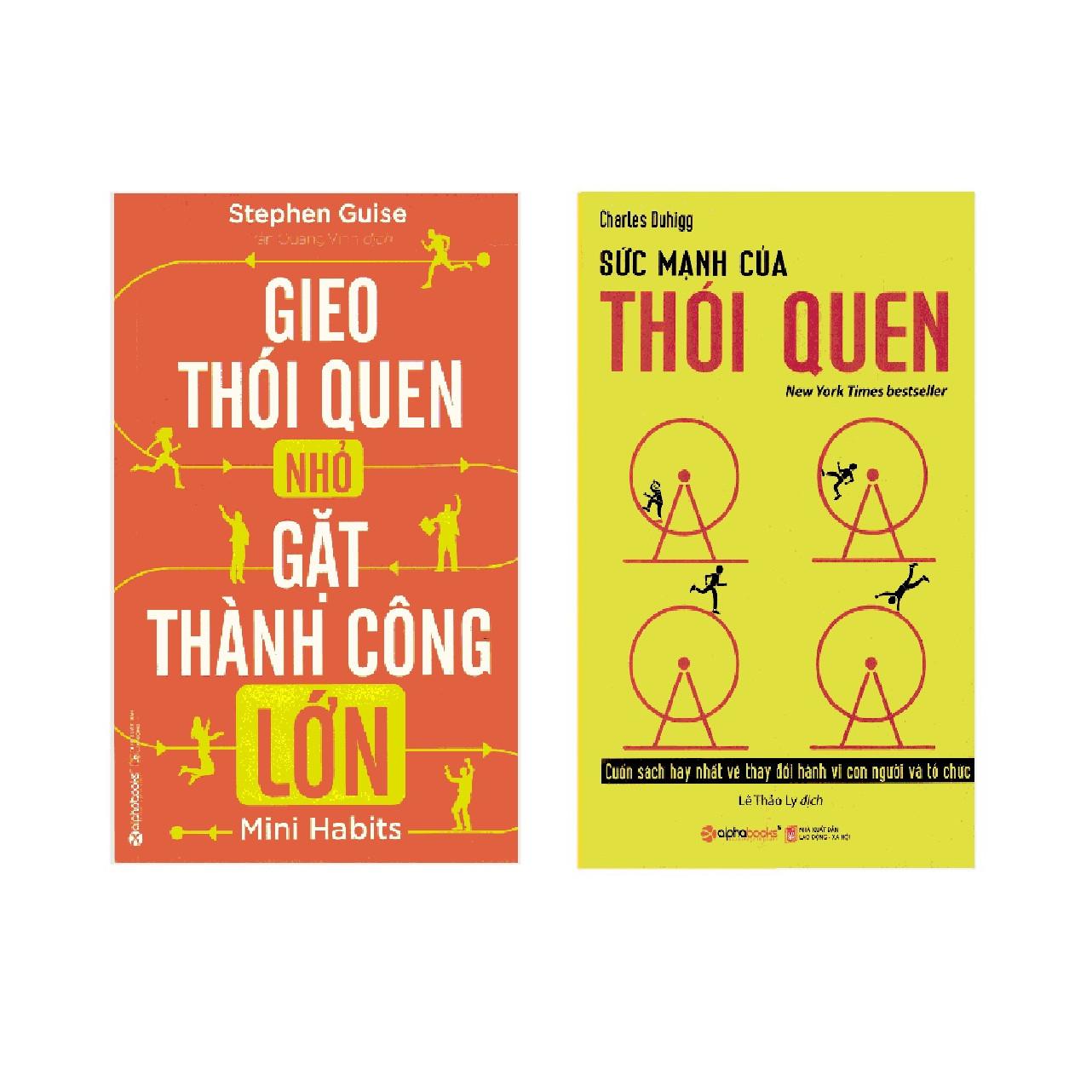 Bộ Sách Lập Thói Quen Để Thành Công ( Sức Mạnh Của Thói Quen + Gieo Thói Quen Nhỏ, Gặt Thành Công Lớn ) tặng kèm bookmark Sáng Tạo