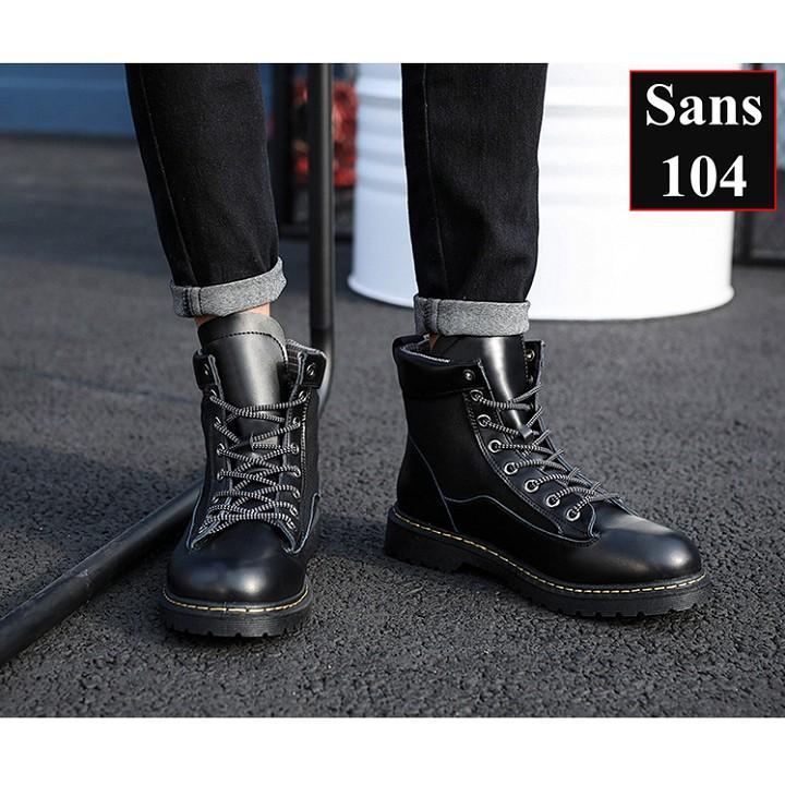 Giày Cao Cổ Nam Tăng Chiều Cao Giầy Bốt Nam Tăng Chiều Cao Sans104