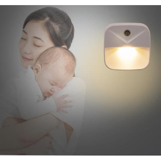 Bộ 2 Đèn ngủ, trang trí nhà cảm biến hồng ngoại