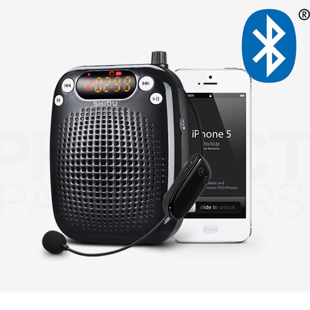 Loa trợ giảng không dây SD-S611 bản 2021 có thêm Bluetooth phát nhạc từ điện thoại (Đen) - Hàng chính hãng