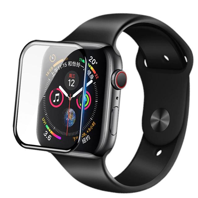 Miếng dán kính cường lực 4D cho Apple Watch 44mm hiệu Coteetci Glass Vát mỏng 2.5D, độ nét HD, phủ Nano - Hàng nhập khẩu