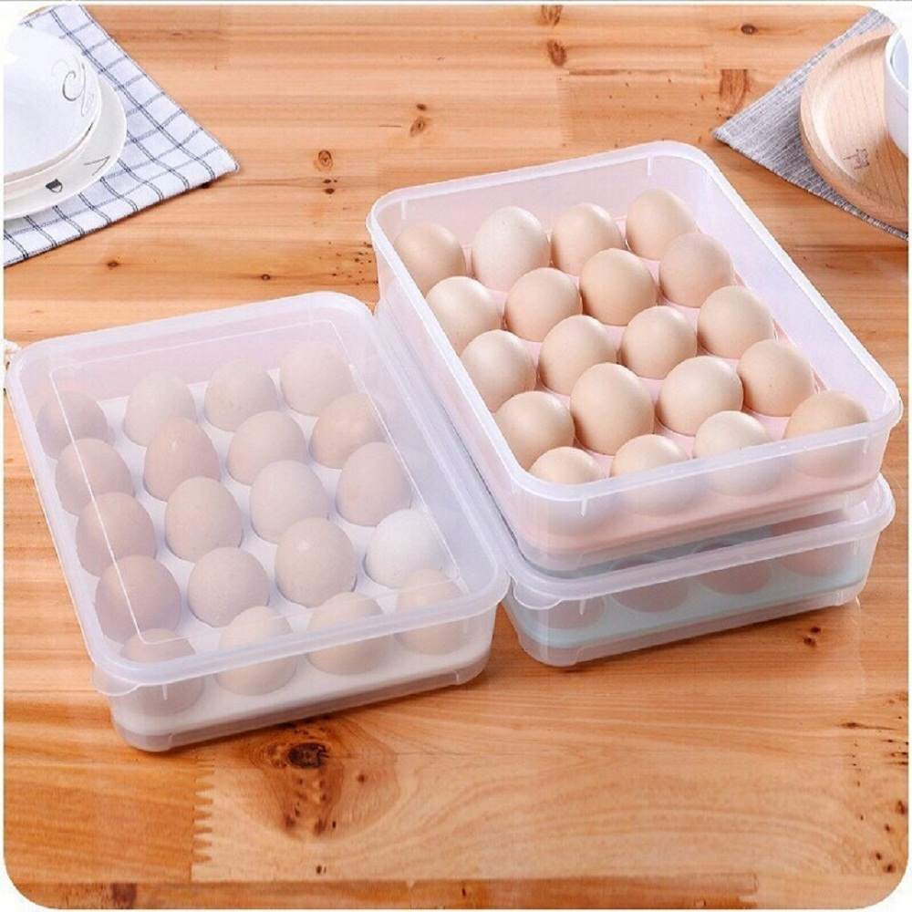 Hộp đựng trứng 24 quả tiện dụng Khay trứng 1 tầng nhựa Song Long cao cấp