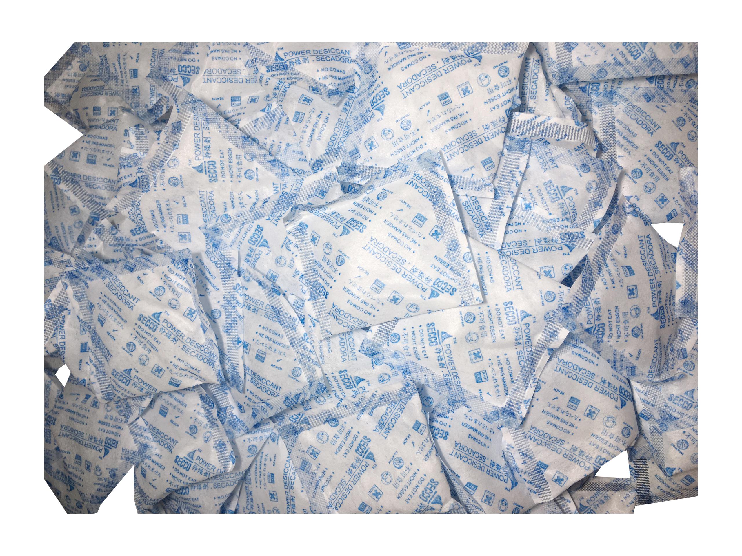 Túi hút ẩm Secco silica gel 5gr (khử mùi/hút ẩm)- 1kg (200 túi) - Chính hãng - Vải trắng - Chữ xanh logo