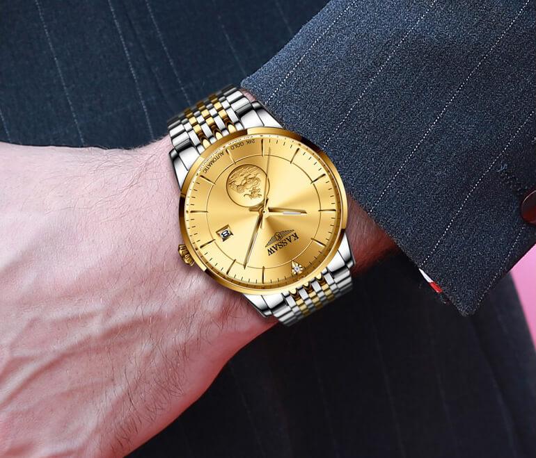 Đồng hồ nam chính hãng KASSAW K666-1 (Mạ vàng 24k)