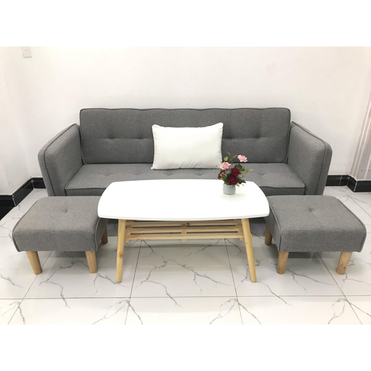 Bộ ghế sofa giường sofa bed tay vịn phòng khách sopha sivali08 salon