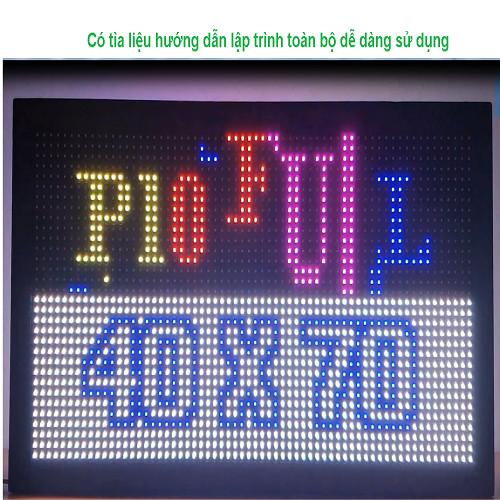 Biển quảng cáo LED ma trận 2 mặt P10 full màu lắp hoàn chỉnh, kích thước 70 x 40 cm