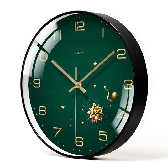 Đồng hồ treo tường trang trí HÌNH SAO XANH loại 30cm - Kính phẳng - Kim trôi