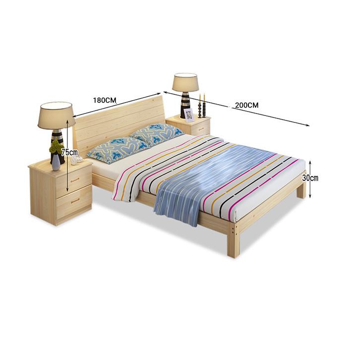 Giường gỗ thông có ngăn kéo để đồ kích thước 180x200cm