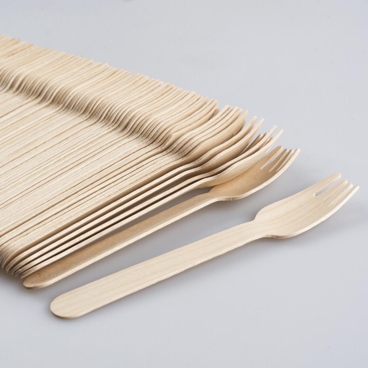 Nĩa (Dĩa) Gỗ 16cm -Túi 20 Nĩa Gỗ - KEGO| Sản xuất tại Việt Nam| 100% phân hủy tự nhiên| An toàn và tiện lợi| Bảo vệ môi trường| Dùng nĩa (dĩa) gỗ cho picnic, party sinh nhật (Đồ dùng một lần)