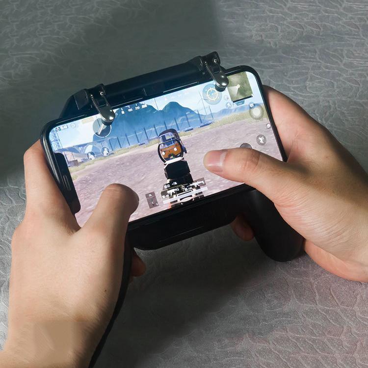 Combo 2 Tay Cầm Chơi Game PUBG, ROS, FF/Liên Quân Mobile Tích Hợp Quạt Tản Nhiệt Kiêm Sạc Dự Phòng pin 4000mAh