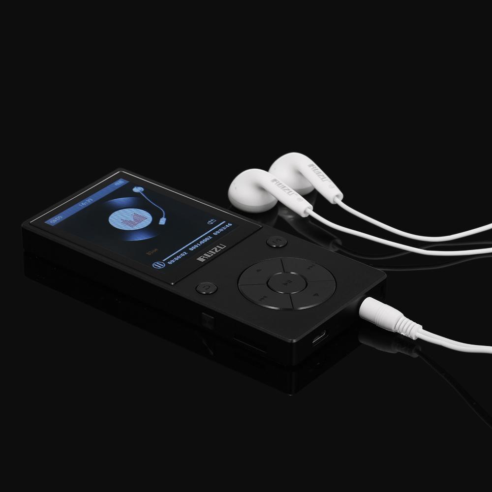 Máy nghe nhạc thể thao Bluetooth Mp3 Sport Ruizu D11 Bộ nhớ trong 8GB Phím cứng hỗ trợ xem video - Hàng Chính Hãng
