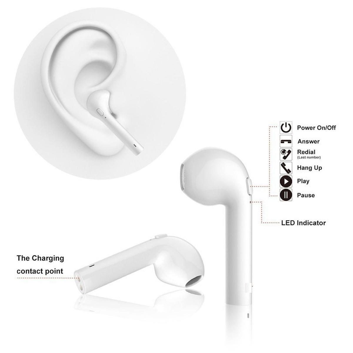 Tai nghe Bluetooth i7S  tai nghe không dây đôi kiểu dáng  Thời Trang