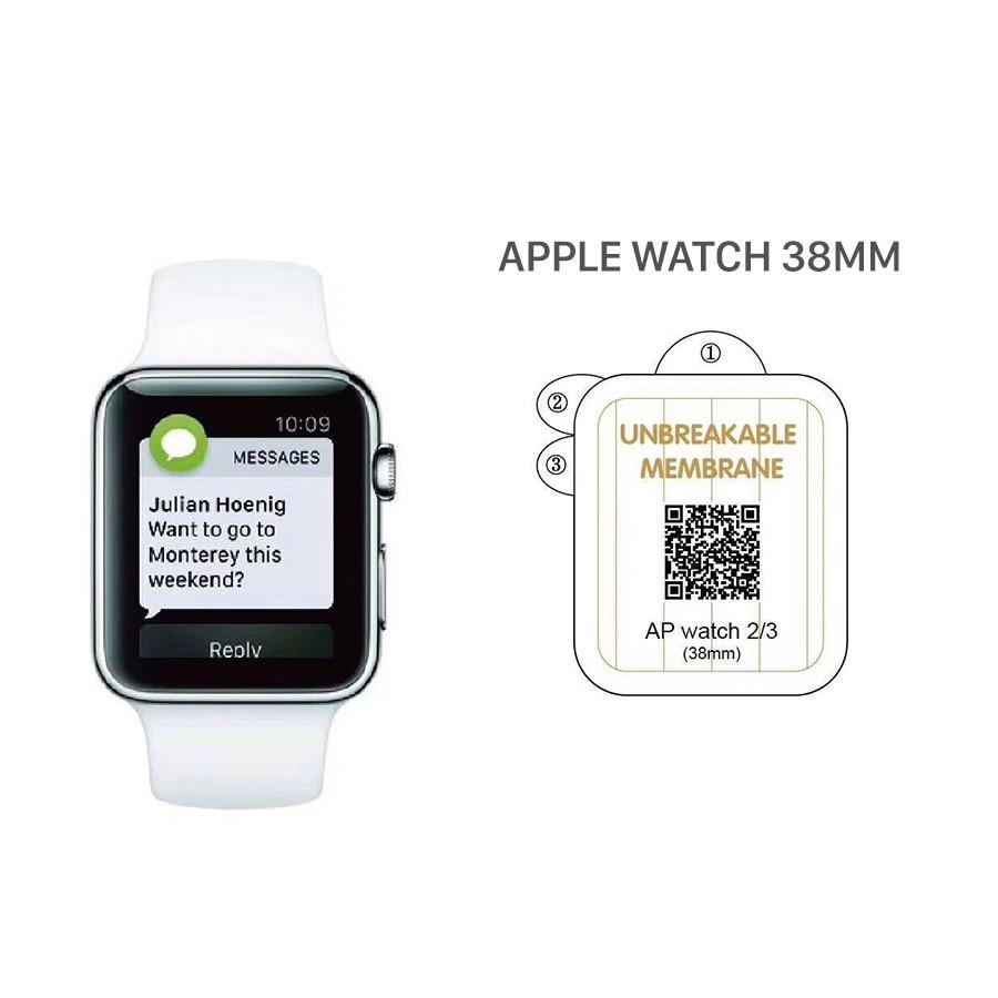 PPF dán chống xước dành cho đồng hồ Apple watch, miếng dán mặt đồng hồ 38mm 40mm 42mm 44mm cường lực chống va đập ốp lưng - Hàng cao cấp