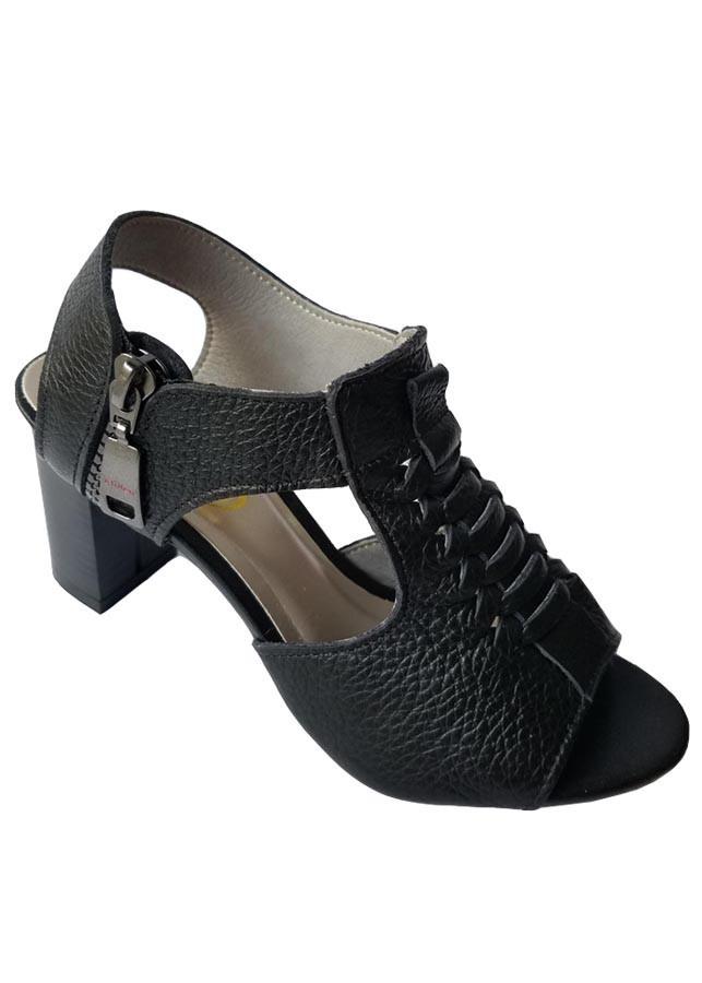 Giày Sandal Cao Gót BIGGBEN Da Bò Thật SDCG37