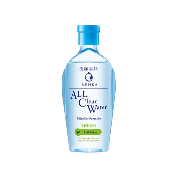Nước tẩy trang sạch thoáng Senka A.L.L.Clear Water Fresh 230ml 15288 tặng Mặt nạ dưỡng da The Faceshop Real Nature (1 miếng)