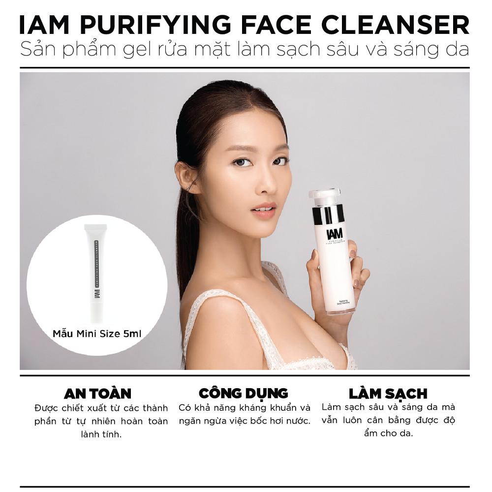 Sản phẩm gel rửa mặt làm sạch sâu và sáng da - IAM Purifying Face Cleanser - 100ml