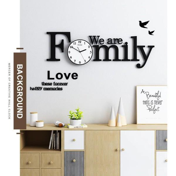 Đồng hồ treo tường hiện đại CL013 - We are family