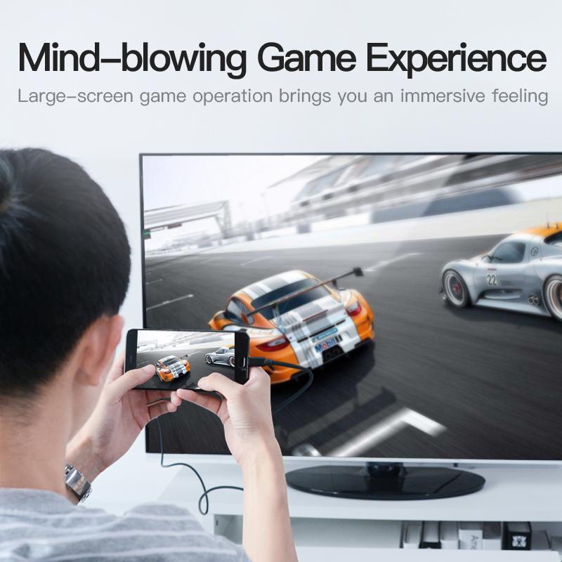 Cáp chuyển đổi Type-C to HDMI 2.0 kèm nguồn USB dài 1.5m - Vention CGTBG - Hàng chính hãng