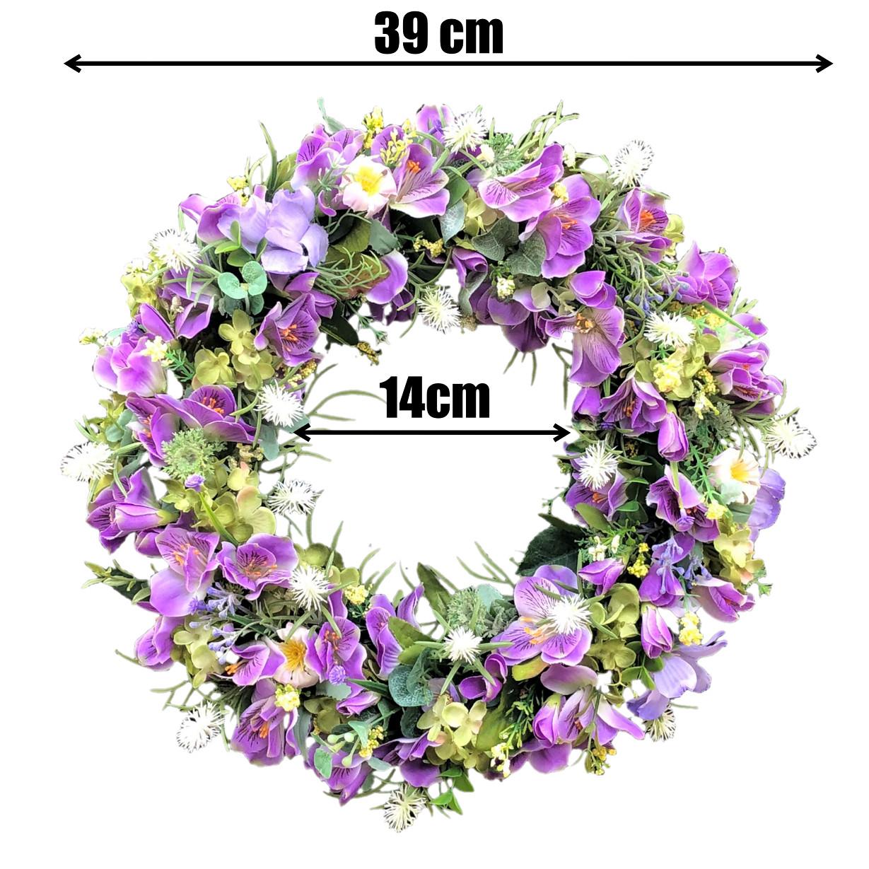 Vòng Hoa Vải Handmade V16055