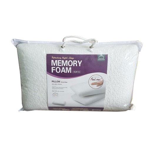 Gối Memory Foam 50D Hình Dáng Thường Lock&Lock HLW112 (50 x 30 cm) - Trắng