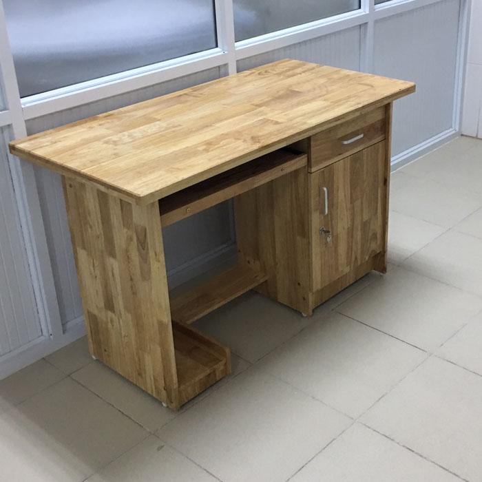 Bàn vi tính gỗ cao su bàn học bàn làm việc