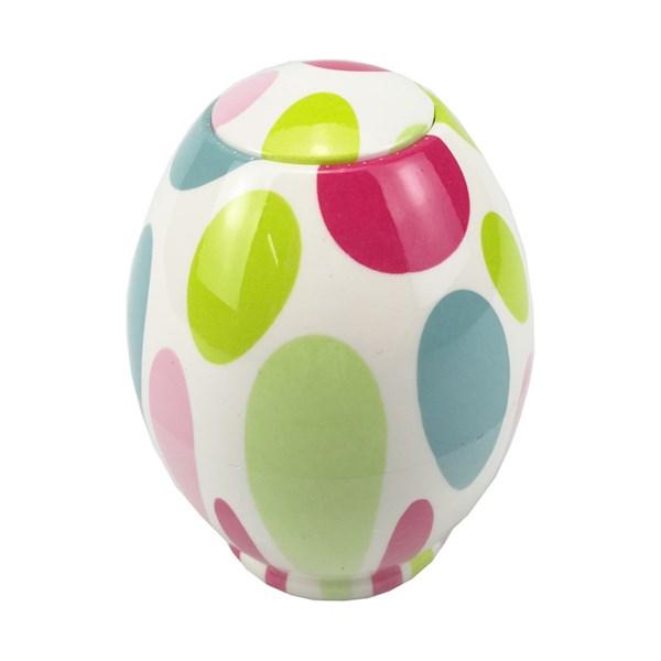 Lọ đựng tăm hình quả trứng họa tiết bắt mắt GS0014
